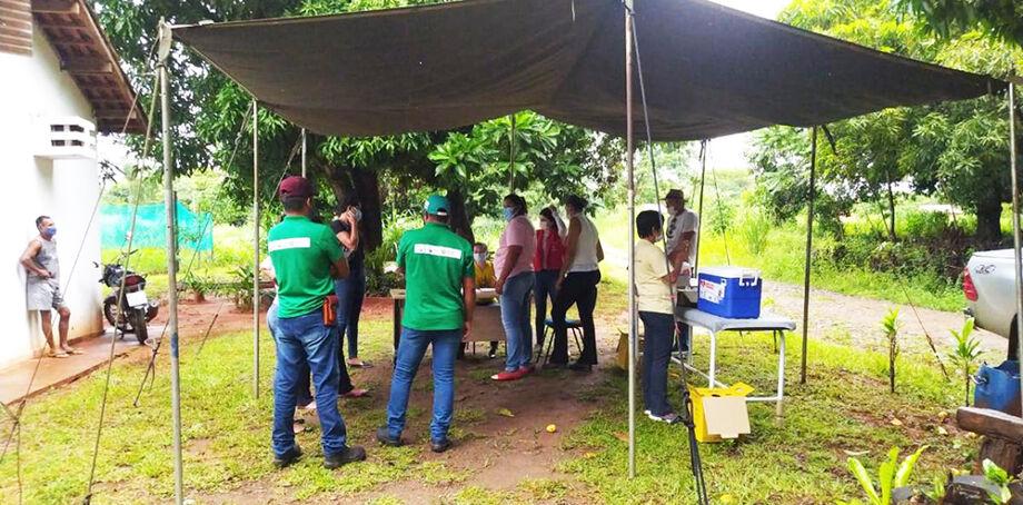 A vacinação aconteceu na Aldeia Brejão