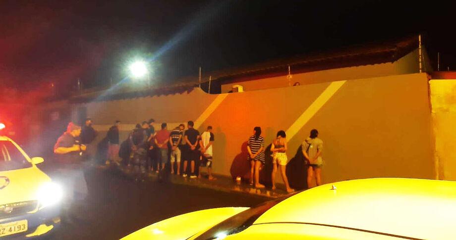 A festa foi encerrada pela Guarda Municipal