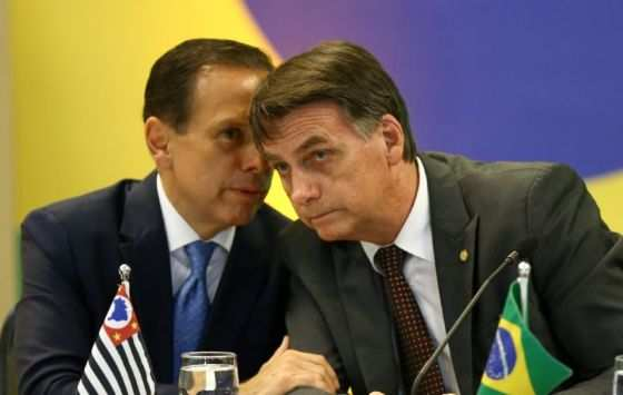 Governador João Dória ao lado do Presidente Jair Bolsonaro