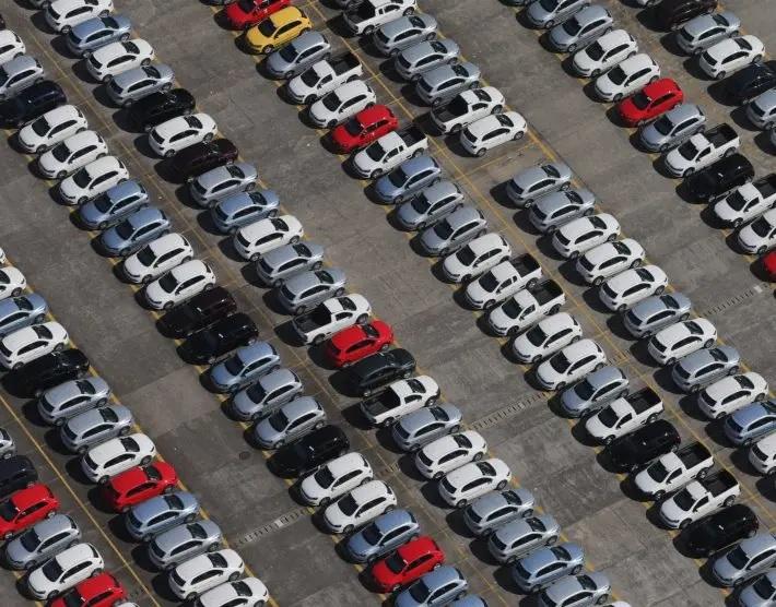Pátio da montadora Volkswagen em São Bernardo do Campo