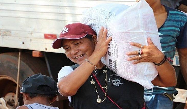 Mais de 216 mil cestas alimentares serão entregues aos indígenas de MS neste ano