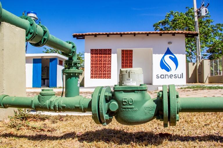 Em Coxim, equipe da Sanesul fará melhorias na infraestrutura do sistema de abastecimento de água.
