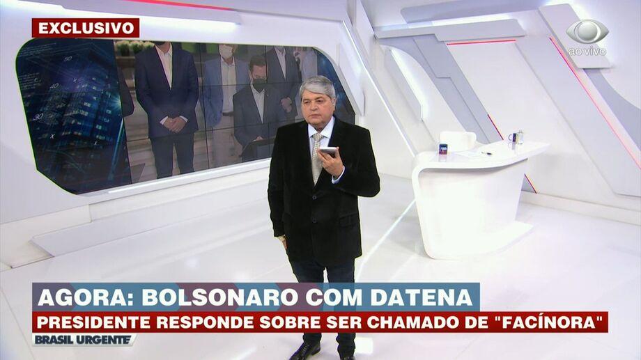 Entrevista por telefone do Presidente ao Datena