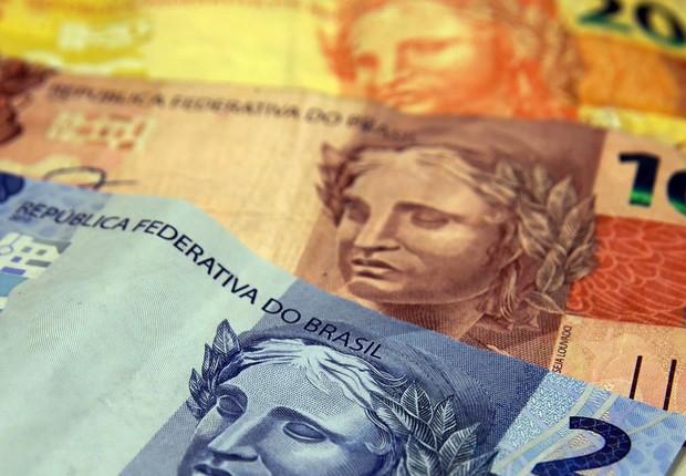 Dinheiro, moeda, real, nota, reais