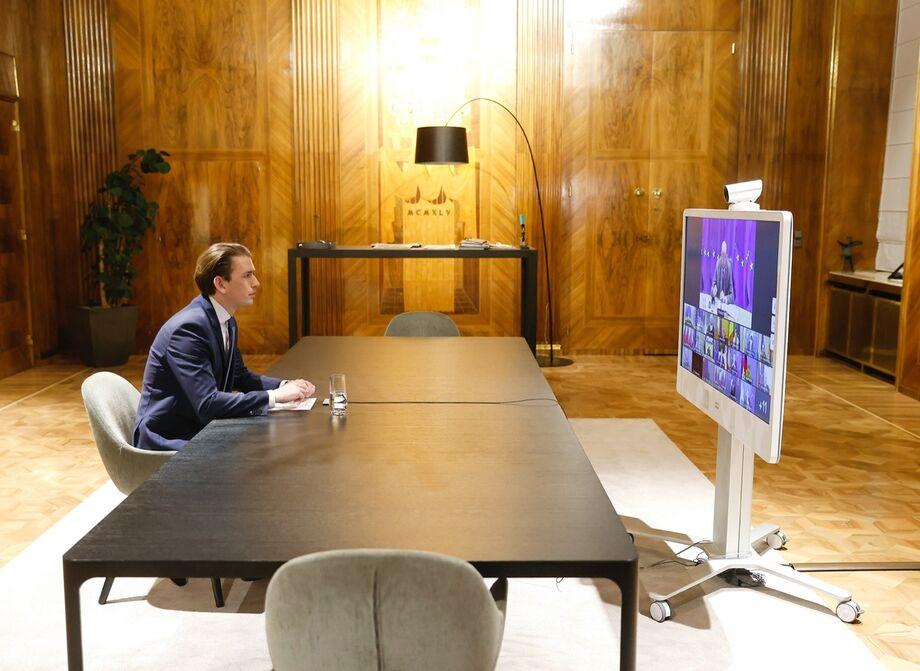 O primeiro-ministro da Áustria, Sebastian Kurz
