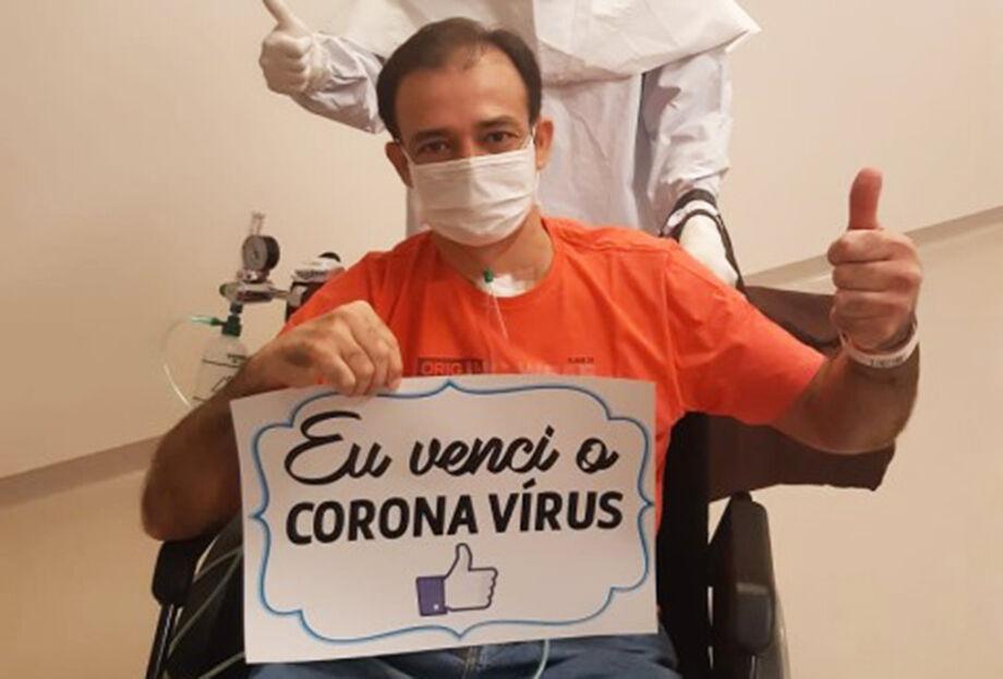 O paciente Marcelo Gonçalves, que venceu o coronavírus
