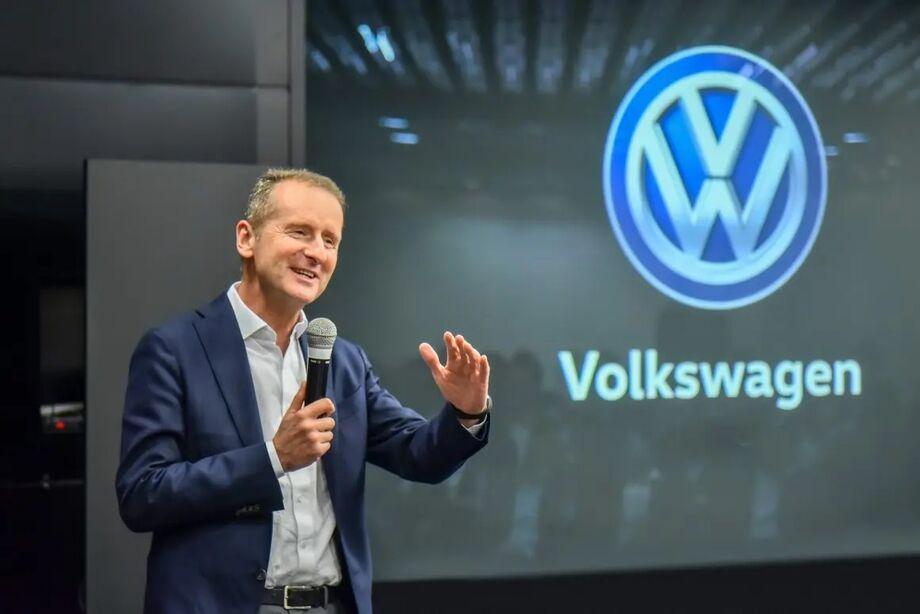 O diretor executivo da Volkswagen AG, Herbert Diess