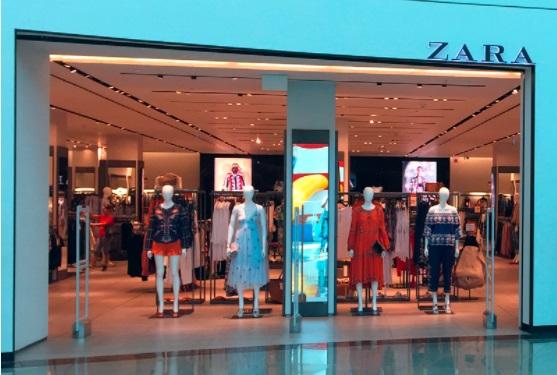 Loja da Zara no Shopping Bosque dos Ipês, em Campo Grande: rede vai reforçar presença no digital.