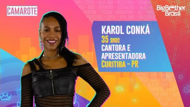 A cantora Karol Conka é natural de Curitiba e tem 32 anos de idade