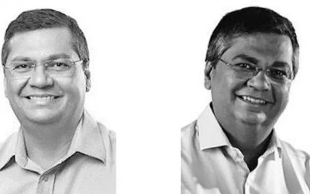 Fotos de Flávio Dino como candidato nas eleições de 2014 (esq.) e de 2018 usadas no site do TSE; imagens aparecem em amostra de banco de dados vazado
