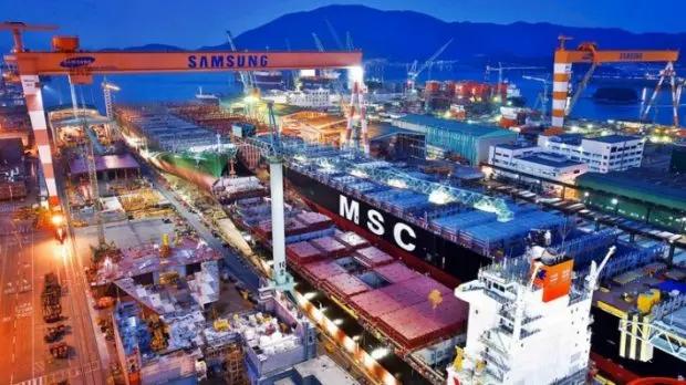 A empresa Samsung Heavy Industries (SHI), é uma das maiores companhias do mundo de fabricação de navios