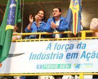 Sérgio Longen , presidente da Fiemse Maura Gabínio diretora do Sesi