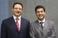 Juiz empossados para atuarem na Capital Olivar Augusto Roberti Coneglian e Albino Coimbra Neto