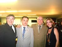 Silvano Silvestre (pres. CRO-MS), Sérgio Pires (pres. CRO-PI), Ailton Morilhas (vice-pres.CFO) e Éri