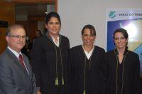 As novas Juizas Substituta do Trabalho do TRT24 em cerimônia de posse na sede do Tribunal no último