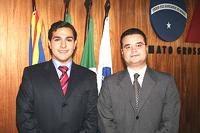 Sérgio Muritiba, diretor da ESA, e o advogado Fabio Trad, presidente da Ordem dos Advogados do Brasi