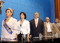Mary Torres, secretária Municipal Ilza Matheus, deputado Jerson Domingos, Valdir Ozório e Luiz Llama
