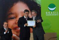 Prefeito de Campo Grande Nelsinho Trad e o presidente Lula