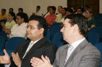 Fábio Trad, e o secretário-geral Ary Raghiant Neto, estiveram sexta-feira em Maracaju