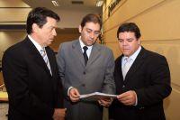Vereadores Cristovão Silveira, Alcides Bernal e Paulo Pedra