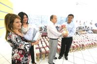 Diretores e fundadores do Instituto Oshiro Takemori receberam Nelsinho Trad e a primeira-dama Antoni