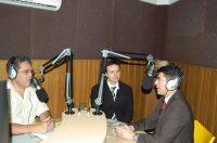André Puccinelli Junior e o Promotor de Justiça Edilson Mougenot durante entrevista