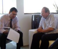 Sérgio Longen, presidente da Fiems, e José Marinoni, reitor da UCDB