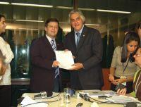 Senador Delcídio do Amaral e o deputado Mendes Ribeiro Filho, presidente da Comissão de Orçamento
