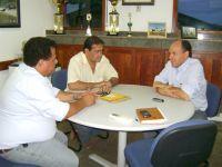 O encontro foi intermediado pelo corretor de imóveis Dalton de Souza Lima, ex-prefeito de Coxim e re