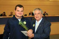 Gustavo Pereira e Edil Albuquerque, presidente da Câmara