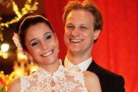 Os noivos Mariá Recalde e Thiago Grilo