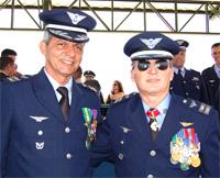 O novo comandante é o tenente-coronel Aviador Reynaldo Pereira Alfarone Junior e o coronel-aviador M