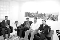 Advogados André Puccinelli Junior, Carlos Magno Couto, jornalista Luiz Carlos Feitosa e dr. Edilson