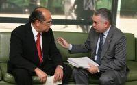 O presidente do STF, ministro Gilmar Mendes, recebeu em audiência o desembargador Sérgio Martins Sob