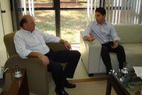 Osmar Jeronymo, Secretário de Estado de Governo, e o jornalista Enrico Feitosa