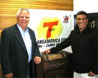 Vice-prefeito de Campo Grande, Edil Albuquerque, entrevistador do Programa Transnotícias, João Flore