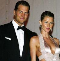 O jogador de futebol americano Tom Brady e a modelo Gisele Bundchen.