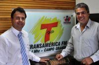 O presidente do Crea-MS Jary de Castro e o jornalista Luiz Carlos Feitosa