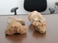 Pedras que foram usadas na morte
