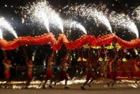 Dança tradicional do dragão