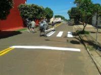 Quatro vias estão sendo pintadas