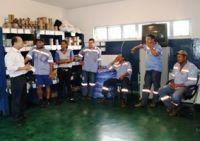 Em Deodápolis com funcionários