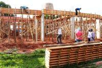 Escritório sendo construído