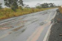 Atualmente estrada está perigosa