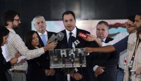 Brasília - O governador de Pernambuco, Paulo Câmara, fala com a imprensa após encontro com a presidenta DilmaJosé Cruz/Agência Brasil