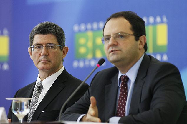 Ministros Nelson Barbosa e Joaquim Levy
