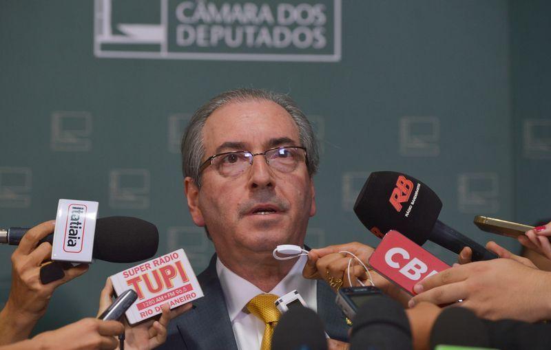 Eduardo Cunha durante entrevista coletiva