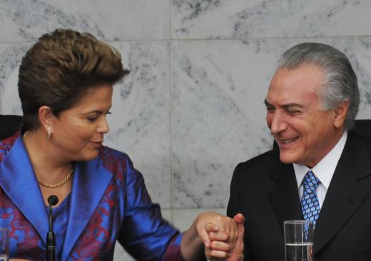 O vice-presidente Michel Temer se queixou também do tratamento a ex-ministros ligados a ele.