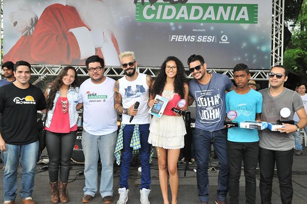 Daniele Cristinne Oliveira, que tem 17 anos de idade e é a primeira vencedora do concurso criado no âmbito da Ação Cidadania para revelar os talentos dos bairros de Campo Grande..