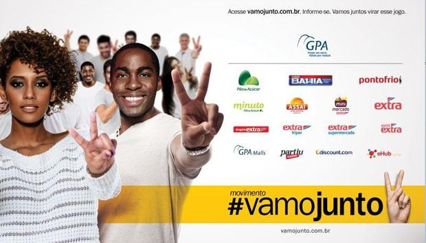 Lançado em 1º de dezembro pelo GPA, maior varejista do Brasil, o movimento #vamojunto promove, pela primeira vez, uma ação nacional reunindo todas as suas empresas e marcas.